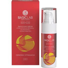BasicLab Emulsyjne serum z 0,3% czystego retinolu i koenzymem Q10 - odnowa i stymulacja, 30 ml