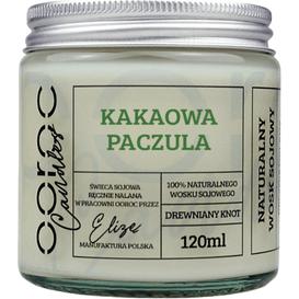 Ooroc Świeca sojowa mała w słoiku - Kakaowa Paczula, 120 ml