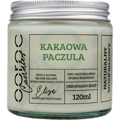 Świeca sojowa mała w słoiku - Kakaowa Paczula Ooroc