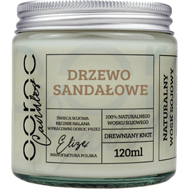 Ooroc Świeca sojowa mała w słoiku - Drzewo Sandałowe, 120 ml