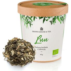Brown House & Tea Luu - organiczna zielona herbata z trawą cytrynową i dodatkami, 40 g
