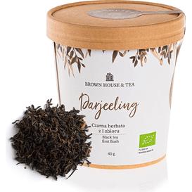 Brown House & Tea Darejeeling - indyjska organiczna czarna herbata z pierwszego zbioru, 40 g