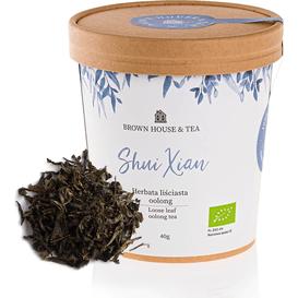 "Brown House & Tea Shui Xian - chińska organiczna herbata oolong ""turkusowa"", 40 g"