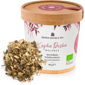 Brown House & Tea Kapha Dosha Balance  - herbatka ziołowa z serii balance Me Ayurveda, 40 g
