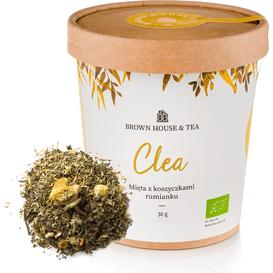 Brown House & Tea Clea - organiczna mięta z koszyczkami rumianku, 30 g