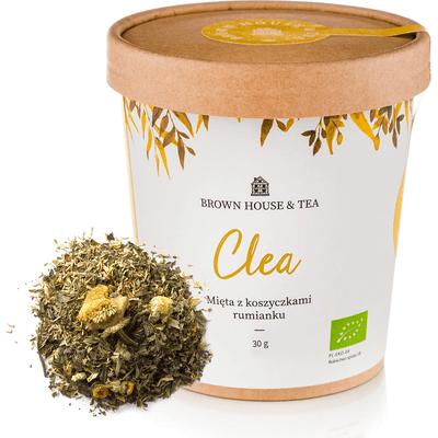 Clea - organiczna mięta z koszyczkami rumianku Brown House & Tea