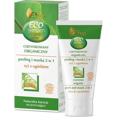 Eco Garden - Organiczny peeling i maska 2 w 1 - ryż z ogórkiem AVA Laboratorium