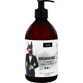 LAQ Doberman - Żel pod prysznic dla mężczyzn 8 w 1, 500 ml