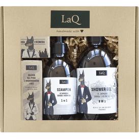 LAQ Zestaw Doberman: żel pod prysznic + szampon + olej do brody + mydło