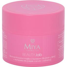 Miya Skoncentrowana maska z kwasami 3% [AHA+BHA] + kompleks łagodzący 6%, 50 g