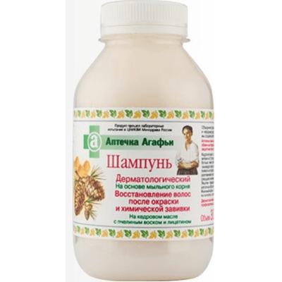 Dermatologiczny szampon regenerujący do włosów farbowanych Apteczka Agafii