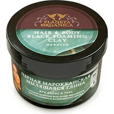 Czarna marokańska glina do włosów i ciała Planeta Organica