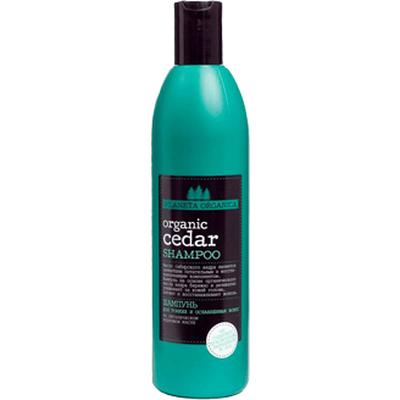Szampon do włosów cienkich i osłabionych - Organiczny cedr Planeta Organica