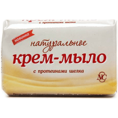 Naturane kremowe mydło z PROTEINAMI JEDWABIU Nevskaya Kosmetika