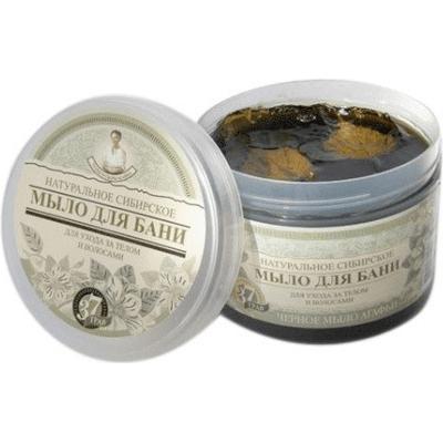 Czarne mydło syberyjskie do pielęgnacji włosów i ciała Trawy i Zioła Agafii