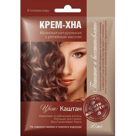 Kremowa henna z olejkiem łopianowym - Kasztan