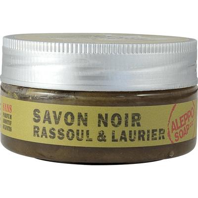 Czarne mydło savon noir z glinką rassoul i olejem laurowym Aleppo Soap