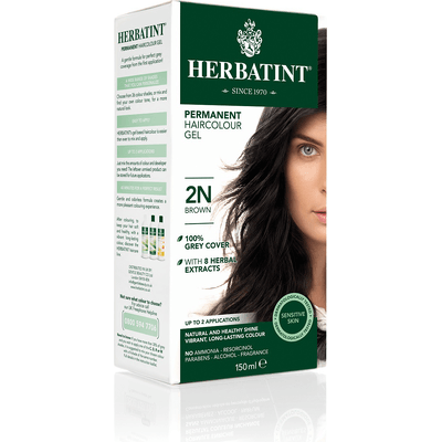 Naturalna farba do włosów - Ciemny brąz 2N Herbatint