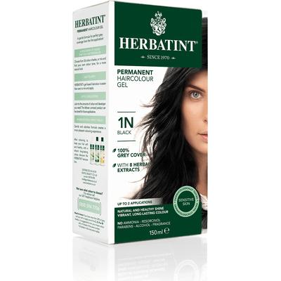 Naturalna farba do włosów - Głęboka czerń 1N Herbatint