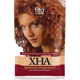 Henna irańska czerwona do wszystkich rodzajów włosów