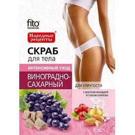 Fitocosmetic Cukrowo-winogronowy peeling do ciała ujędrniający