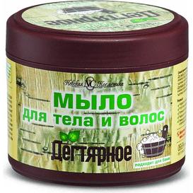 Nevskaya Kosmetika Mydło dziegciowe do ciała i włosów 2w1, 300 ml