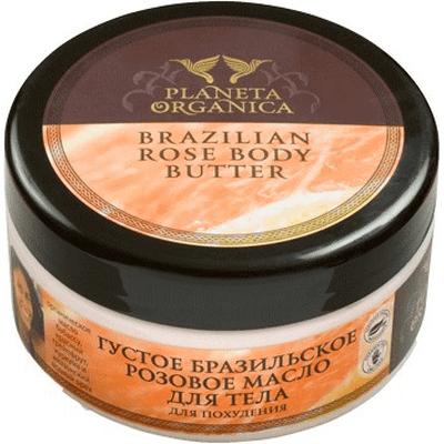 Brazylijskie różane masło do ciała antycellulitowe Planeta Organica