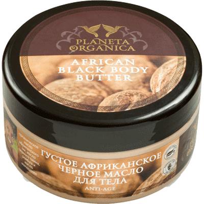 Afrykańskie czarne masło do ciała anti age Planeta Organica