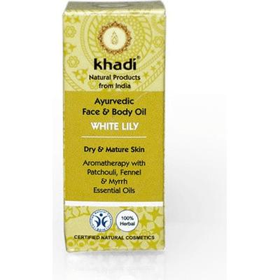 Olejek do twarzy i ciała z białą lilią Khadi