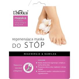 L'biotica Regenerująca maska do stóp w postaci nasączonych skarpetek