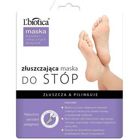 L'biotica Złuszczająca maska do stóp w postaci nasączonych skarpetek