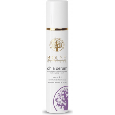 Serum liftingujące chia na twarz szyję i dekolt Bioline