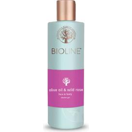 Żel pod prysznic i do mycia twarzy - Olive oil & wild rose
