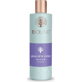 Żel pod prysznic i do mycia twarzy - Olive oil & violet