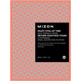 Mizon Enjoy Vital-Up Time Anti Wrinkle Mask - Przeciwzmarszczkowa maska ze śluzem ślimaka 1 sztuka (30ml)