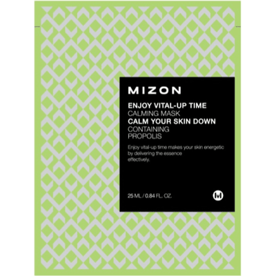 Kojąca maska z propolisem Enjoy Vital-Up Time CALMING MASK Mizon