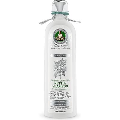 Organiczny szampon pokrzywowy - Miękkość i połysk White Agafia