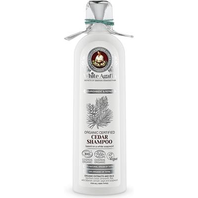 Cedrowy szampon do włosów - Regeneracja i odżywienie White Agafia