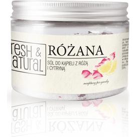 Fresh&Natural Różana sól do kąpieli z różą i cytryną
