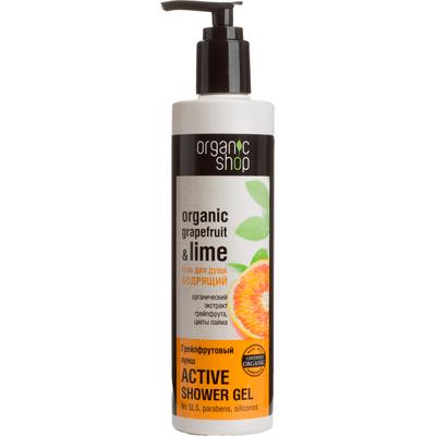 Orzeźwiający żel pod prysznic - Grejpfrutowy poncz Organic Shop