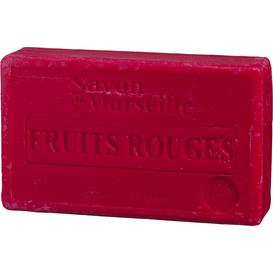 Le Chatelard Mydło marsylskie z olejem ze słodkich migdałów - Czerwone owoce, 100 g