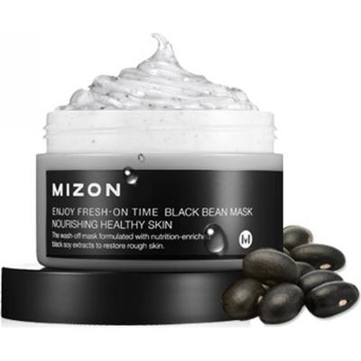 Odżywcza maska do twarzy z czarną fasolą - Enjoy Fresh-On Time - Black Bean Mask Mizon
