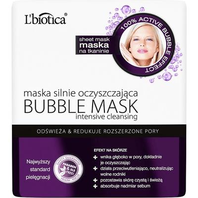 Maska silnie oczyszczająca - Bubble mask L'biotica