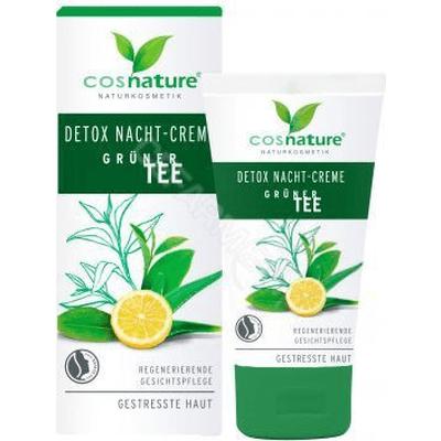 Naturalny detoksykujący krem na noc - Zielona herbata Cosnature