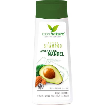 Naturalny regenerujący szampon do włosów z awokado i migdałami Cosnature