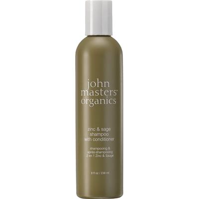 Cynk i szałwia - Szampon do włosów przetłuszczających się i z łupieżem John Masters Organics