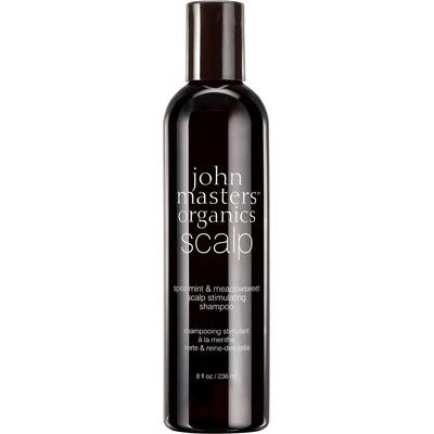 Mięta i wiązówka błotna - Szampon do włosów wypadających i osłabionych John Masters Organics