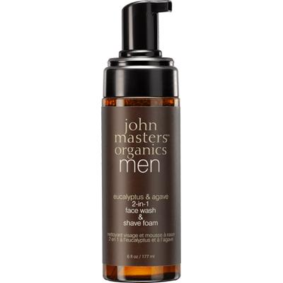 Pianka do mycia twarzy i do golenia 2w1 dla mężczyzn John Masters Organics