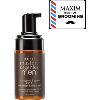Krem nawilżający i po goleniu 2w1 dla mężczyzn John Masters Organics