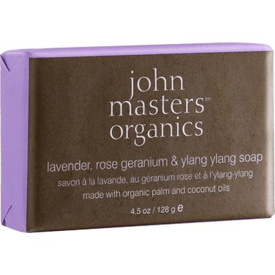 Intensywnie nawilżające mydło do twarzy i ciała - Lawenda, Geranium i Ylang Ylang John Masters Organics